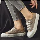 Plaid Platform Canvas Sneakers