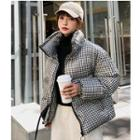 Gingham Zip Padded Jacket