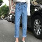 Washed Jeans With Sash