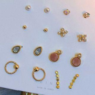 Set: Stud Earring (various Designs) 0159a# - Set - Classic Earrings - Multicolor - One Size