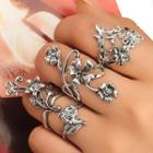 Set Of 4: Flower Ring