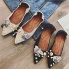 Beaded Floral Pointy Flats