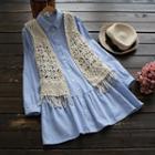 Fringed Crochet Vest