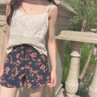 Floral Print Chiffon Shorts