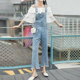 Cropped Slit Jumper Jeans