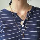 Cross & Coin Layered Necklace