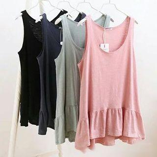 Frilled Plain Tank Top