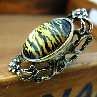 Leopard Vintage Ring - Copper Copper - One Size