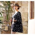 Open-front Floral Print Cardigan