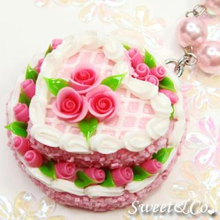 Pink Double Layer Rose Cake Pearl Necklace