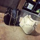 Faux-leather Studded Bucket Bag