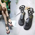 Pearl Crystal Flat Sandals