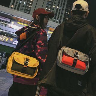 Contrast Panel Messenger Bag