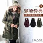 Furry-trim Hooded Parka