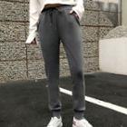 Faux Fur-lined Sweatpants