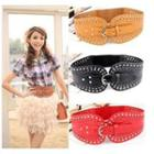 Studded Perforated Elastic Belt