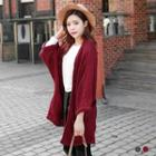 Open-front Chunky Knit Long Cardigan