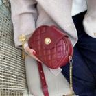 Faux Leather Push Lock Saddle Crossbody Bag