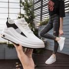 Platform Stitched Panel Sneakers