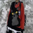 Cat-print Sweater