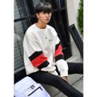 Color-block Brushed-fleece Sweatshirt