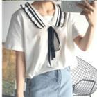 Short-sleeve Collared T-shirt