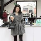 Houndstooth Loose-fit Coat