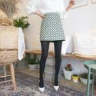 Pattern Jacquard A-line Miniskirt