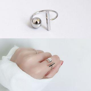 Bead 925 Sterling Silver Ring Silver - One Size