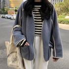 Pocketed Fleece Coat