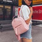 Heart Perforated Backpack