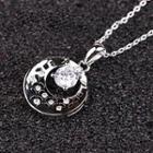 Rhinestone Cutout Necklace