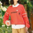 Inset Dotted Shirt Pocket Front Sweater