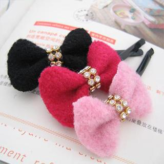 Diamond Bow Hair Pin -red Series One Size