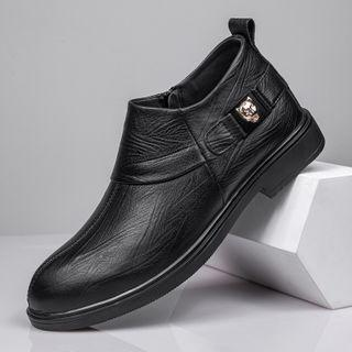 Genuine-leather Studded Casual Shoes