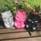 Cat Printed Canvas Pouch