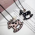 Rocking Horse Pendant Long Necklace