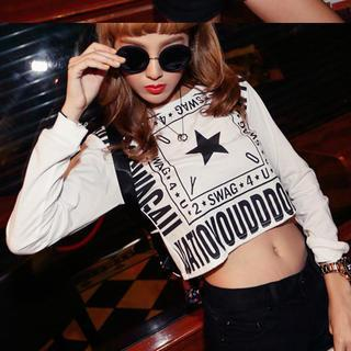Printed Cropped Pullover