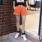 Contrast Trim Colored Sweat Shorts