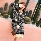 Midi Plaid Sweater Dress