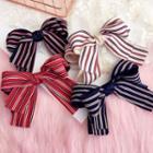 Striped Fabric Bow Hair Clip
