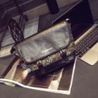 Camo Print Shoulder Bag
