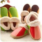 Color-block Couple Slippers