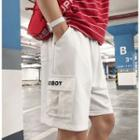 Lettering Pocketed Shorts