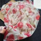 Printed Scarf Red - One Size