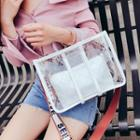 Transparent Tote With Lettering Strap