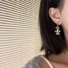 Alloy Bear Dangle Earring 1 Pair - Bear - Gold - One Size