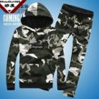 Set: Hooded Camouflage Pullover + Sweatpants