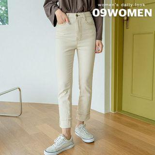 Plus Size Stitched Straight-cut Pants