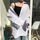 Pinstriped Oversized Shirt